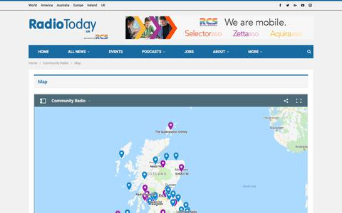 Screenshot of Maps & Directions Page radiotoday.co.uk - Map – RadioToday - captured Sept. 20, 2018