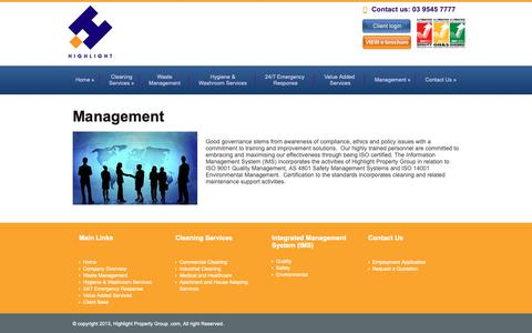 Screenshot of Team Page high-light.com.au - Highlight Property Group » Management - captured Dec. 13, 2018