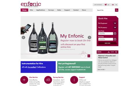 Screenshot of Home Page enfonic.com - Home page - captured Jan. 29, 2016
