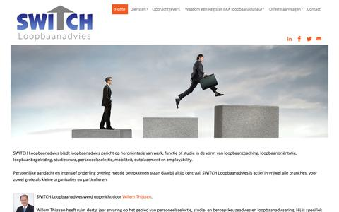 Screenshot of Home Page switch-loopbaanadvies.nl - SWITCH Loopbaanadvies | Loopbaancoaching Limburg - captured Dec. 16, 2018