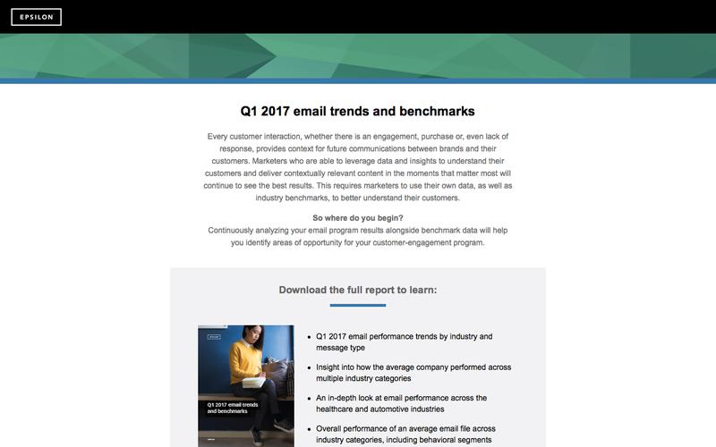Q1 2017 email trends and benchmarks