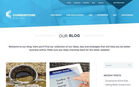 Screenshot of Blog cornerstone-digital.com.au - Blog   Cornerstone Digital   Cornerstone Digital - captured Oct. 27, 2014