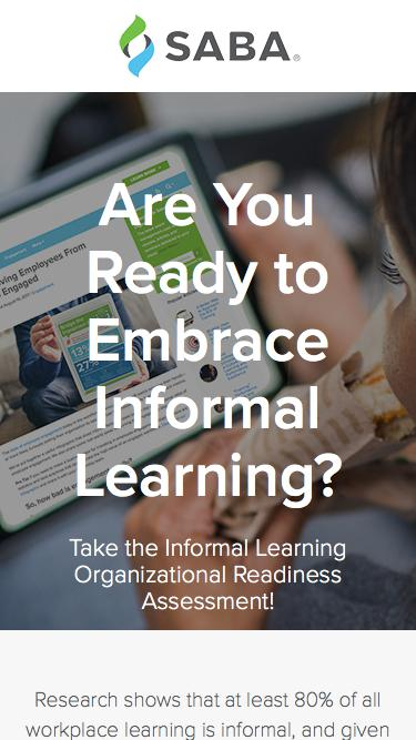 Take the Informal Learning Organizational Readiness Assessment