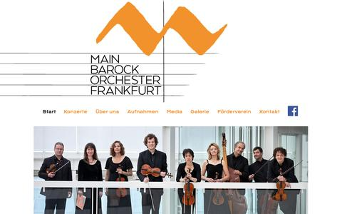 Screenshot of Home Page main-barockorchester.de - Main Barock Orchester - captured June 10, 2016