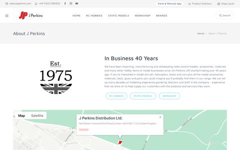 Screenshot of About Page jperkins.com - JPerkins.com - captured Nov. 1, 2018
