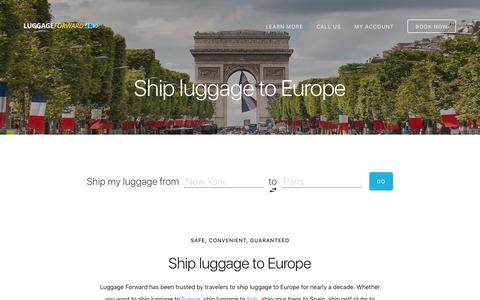 Ship Luggage to Europe - Guaranteed by Luggage Forward®