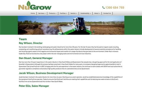 Screenshot of Team Page nugrow.com.au - Nugrow  Team - Nugrow - captured Jan. 11, 2016