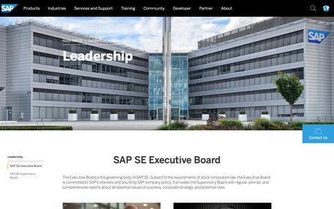 Screenshot of Team Page sap.com - Leadership | About SAP SE - captured March 21, 2019