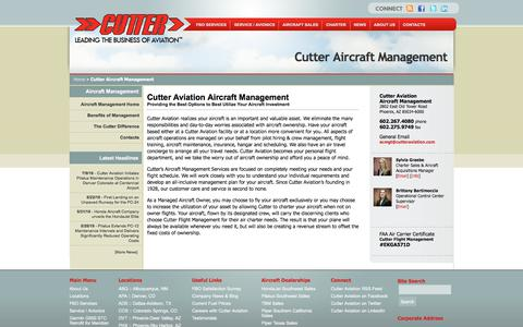 Screenshot of Team Page cutteraviation.com - Cutter Aircraft Management | Cutter Aviation - captured July 24, 2018
