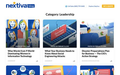 Screenshot of Team Page nextiva.com - Leadership Archives | Business VoIP, Customer Experience, Sales & Marketing Content - Nextiva Blog - captured May 14, 2019