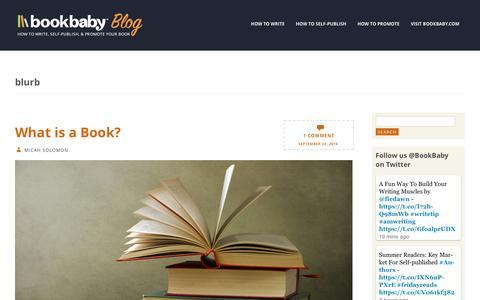 Screenshot of Blog bookbaby.com - blurb | BookBaby Blog - captured Feb. 27, 2017