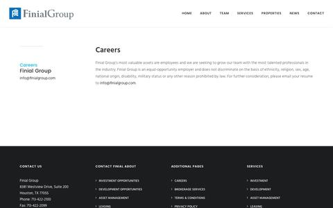 Screenshot of Jobs Page finialgroup.com - Careers - Finial Group LLC - captured June 6, 2017