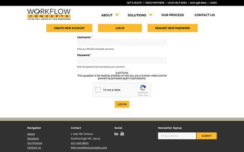 Screenshot of Login Page workflowconcepts.com - Login   Workflow Concepts - captured Nov. 6, 2017