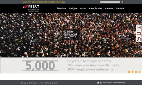 Screenshot of Home Page rustconsulting.com - Rust Home - captured Oct. 7, 2015