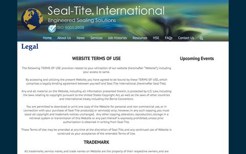 Screenshot of Terms Page seal-tite.com - Legal - Seal-Tite International - captured Nov. 19, 2016