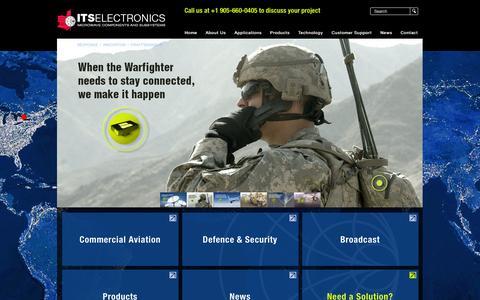 Screenshot of Home Page itselectronics.com - ITS Electronics - captured Jan. 28, 2015