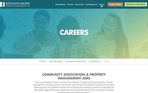 Screenshot of Jobs Page kppm.com - Community Association & Property Management Jobs - captured Feb. 12, 2016