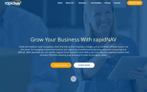 Screenshot of Home Page rapid-nav.com - Grow Your Business With rapidNAV- rapidNAV - captured Sept. 23, 2015