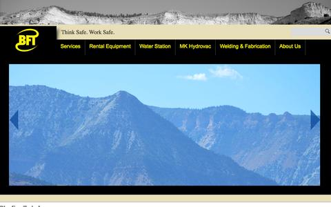 Screenshot of Services Page blac-frac.com - Blac Frac Tanks Inc. | Think Safe. Work Safe. - captured Oct. 1, 2014