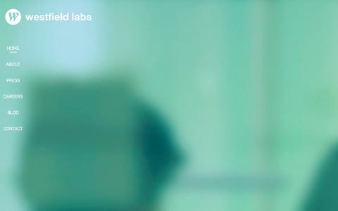 Screenshot of Home Page westfieldlabs.com - Westfield Labs - captured Jan. 21, 2016
