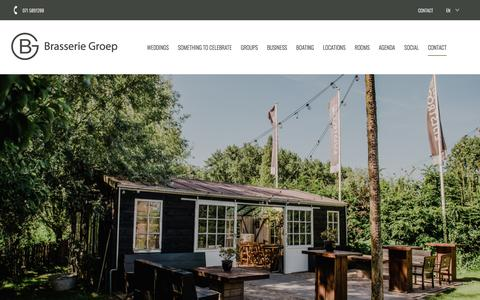 Screenshot of Contact Page brasseriegroep.nl - Contact - Brasserie Groep - captured Aug. 3, 2018