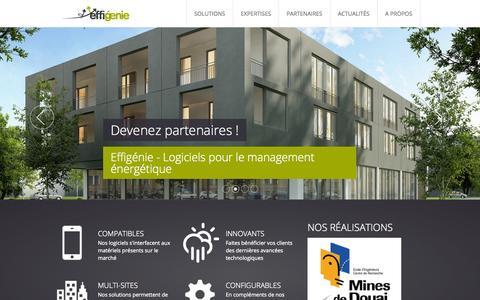 Screenshot of Home Page effigenie.com - Effigénie Maitrisez vos consommations énergétiques - captured Oct. 2, 2014
