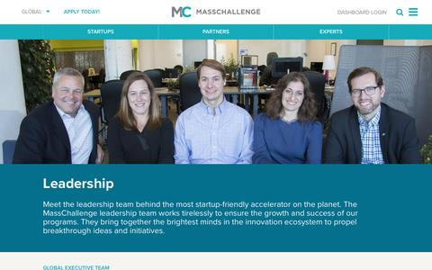 Screenshot of Team Page masschallenge.org - Leadership | Global - captured Feb. 9, 2017