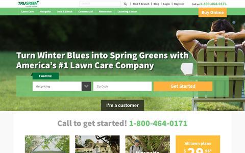 Screenshot of Home Page trugreen.com - Home - captured Feb. 12, 2019