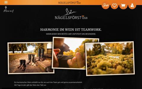 Screenshot of Team Page naegelsfoerst.de - Team | Weingut Nägelsförst - captured June 12, 2018
