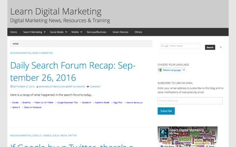 Learn Digital Marketing - Digital Marketing News, Resources & Training