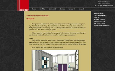 Screenshot of Blog habitardesign.com - Interior Design Blog - captured Sept. 27, 2014