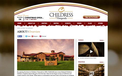 Screenshot of About Page childressvineyards.com - Childress Vineyards - About - Overview - captured Oct. 28, 2014