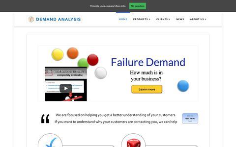 Screenshot of Home Page demand-analysis.com - Home - Demand Analysis Limited - captured Oct. 8, 2018
