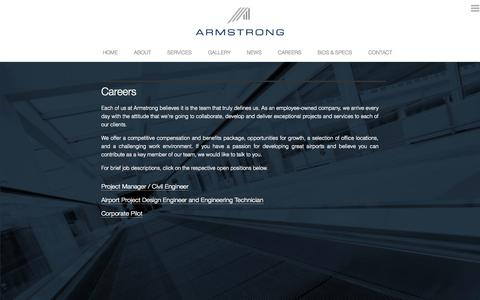 Screenshot of Jobs Page armstrongconsultants.com - Careers  |  Armstrong Consultants Inc. - captured Oct. 4, 2014