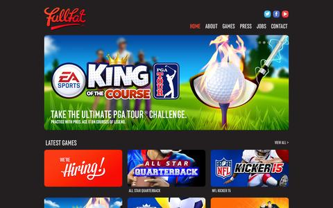 Screenshot of Home Page full-fat.com - Full Fat - captured Sept. 30, 2014
