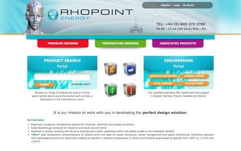 Screenshot of Home Page rhopointenergy.com - Rhopoint Energy - captured Aug. 15, 2016