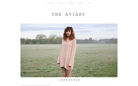 Screenshot of Home Page the-aviary.co.uk - HOME / The Aviary - captured Sept. 30, 2014