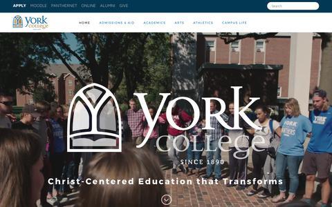 Screenshot of Home Page york.edu - York College - Home - captured Oct. 18, 2017