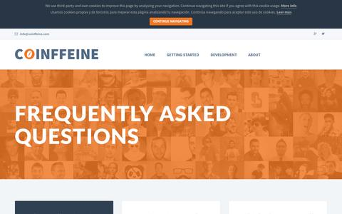 Screenshot of FAQ Page coinffeine.com - Coinffeine - captured Sept. 30, 2014