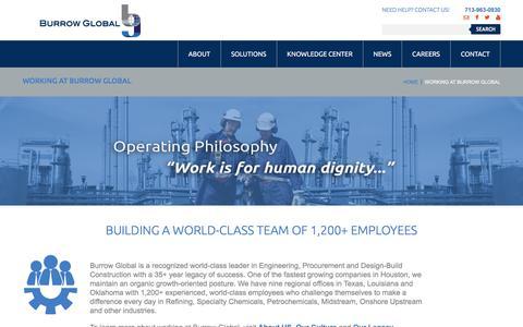 Screenshot of Jobs Page burrowglobal.com - Burrow Global Career Opportunities   Burrow Global Companies - captured April 21, 2017