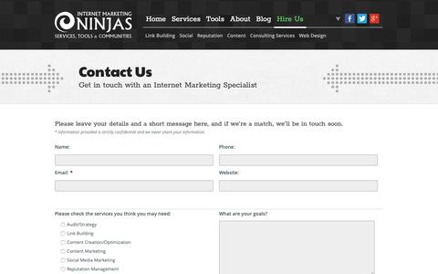 Screenshot of Contact Page imninjas.com - Contact Us | Internet Marketing Ninjas Forms - captured June 13, 2019