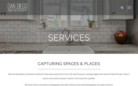 Screenshot of Services Page sandiegohomephotography.com - Services | San Diego Home Photography - captured July 27, 2018