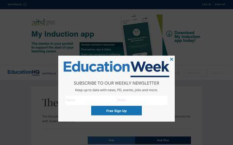 Screenshot of FAQ Page Pricing Page educationhq.com - The EducationHQ Hub — EducationHQ Australia - captured Feb. 4, 2018