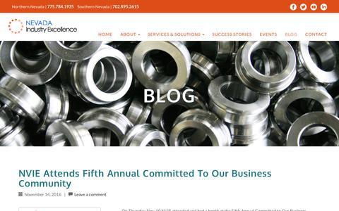Screenshot of Blog nevadaie.com - Blog - Nevada Industry Excellence - captured Nov. 29, 2016