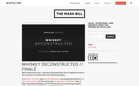 Screenshot of Blog drinkdistiller.com - The Mash Bill - captured Oct. 5, 2014