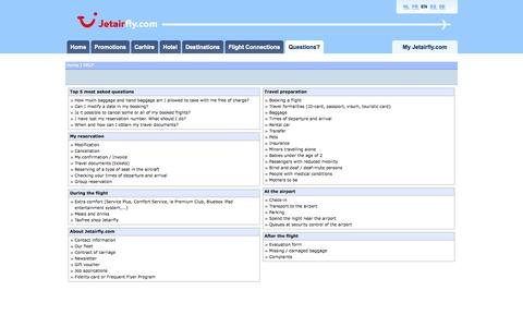 Screenshot of FAQ Page jetairfly.com - Frequently Asked Questions (FAQ) | Jetairfly.com - captured Sept. 18, 2014