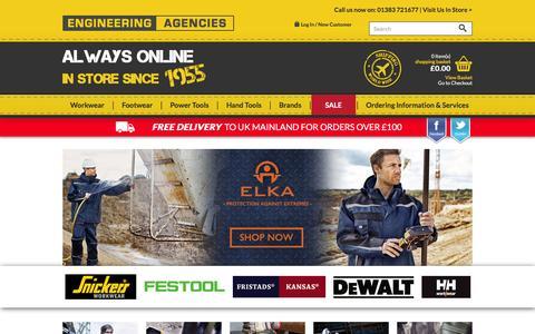Screenshot of Home Page engineeringagencies.co.uk - Engineering Agencies - captured Jan. 29, 2016