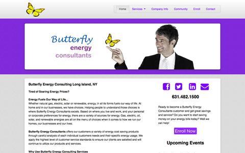 Screenshot of Home Page butterflyenergyconsultants.com - Butterfly Energy Consultants - captured Jan. 24, 2015