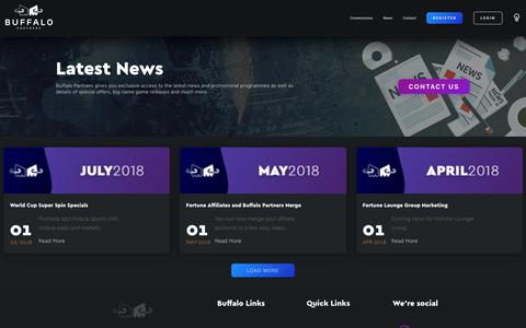 Screenshot of Press Page buffalopartners.com - Buffalo Partners - News - captured Sept. 19, 2018
