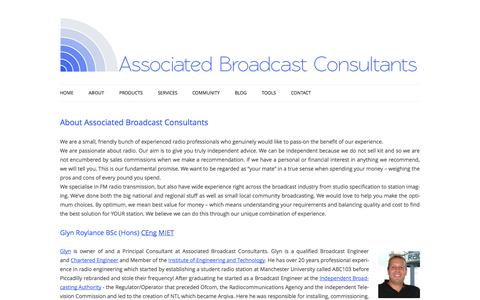 Screenshot of About Page a-bc.co.uk - About - Associated Broadcast Consultants - captured Oct. 4, 2014